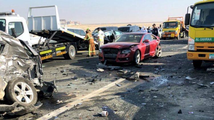 22 Injured, 44 Vehicles Crashed in Abu Dhabi Fog Accident